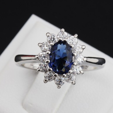 Italina Brand Princess Sapphire Jewellery Ring For Her A1