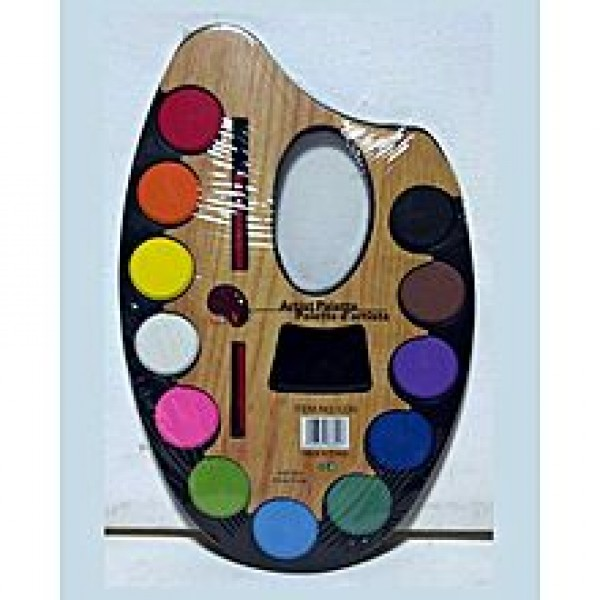12 Colors Artist Palette With Brush (Small)