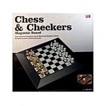 Chess and Checkers Magnetic Board Game Set