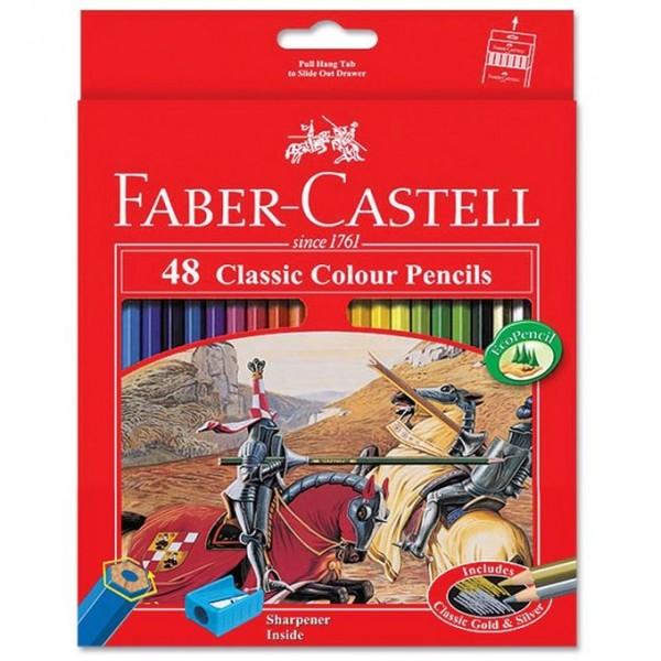 Faber-Castell Classic Color Pencils - 48-Color Set