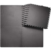 4 Pcs Gym Floor Mat Black( 2 x 2 Size )