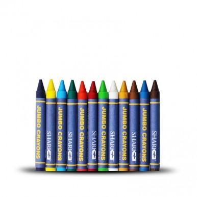 Shark 12 Jumbo Crayons