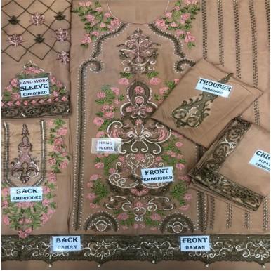 Women Designer Formal Embroidered Dresses Un Stitched 3 Piece