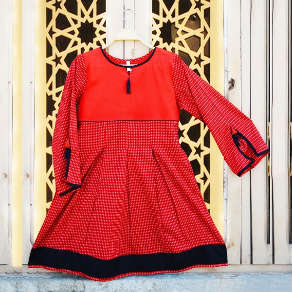 Rose Red Pleated Peplum Style Top