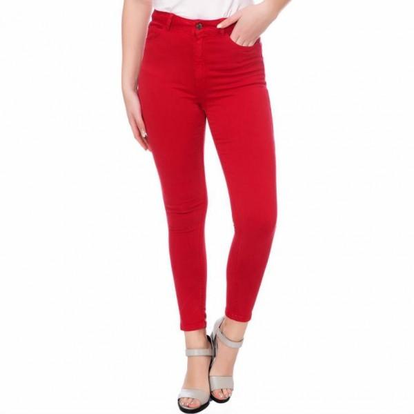 Red Jeans Ladies Skinny