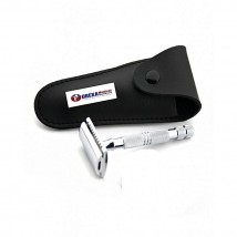 Stainless Steel Safety Razor with Pouch