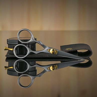 Mustache Scissors or Beard Trimming Scissors, Extremely Sharp - Silver 5 inch
