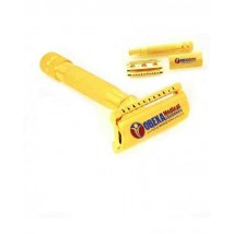3 Piece Heavy Gold Razor Short Handled Heavy Duty Double Edge Safety Razor