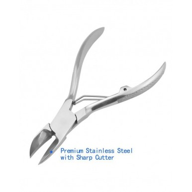 Toenail Clippers for Thick or Ingrown Toenails - Heavy Duty Nail and Cuticle Clippers, Surgical Grade Stainless Steel Nail Clippers for Hangnails