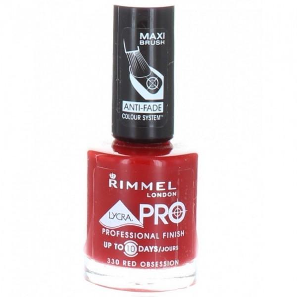 Rimmel Pro Nail Polish 12ml Red Obsession 330 ORIGINAL