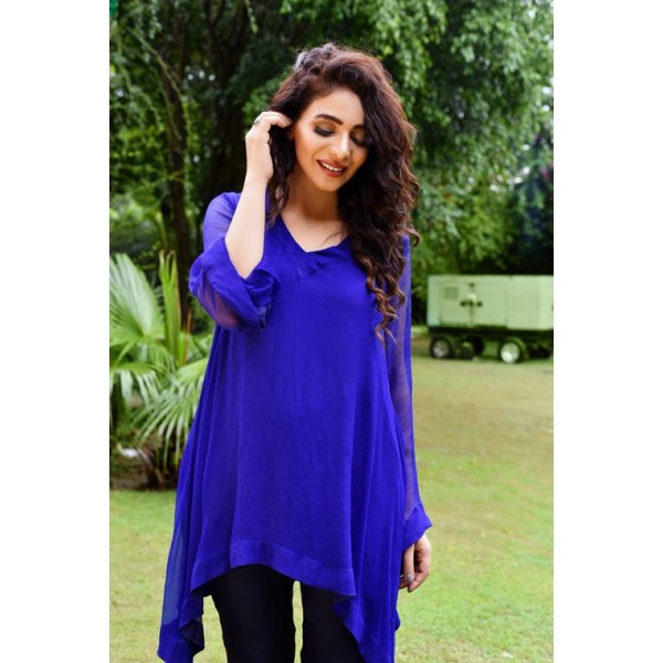 Fairy Meadows Blue Color Flowy Top for Girls