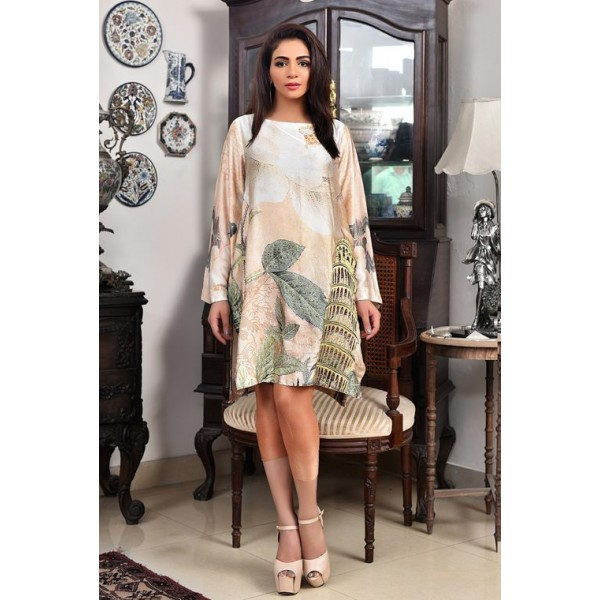 Spring Morning Silk Tunic for Meetings and Parties