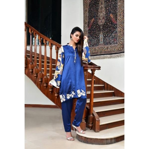 Royal Jalopy Silk Dress for Ladies