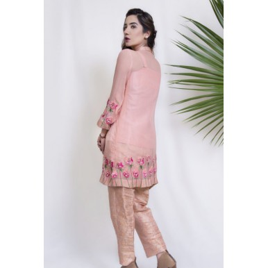 Alluring Melody 3 Pcs Embroidered Dress for Ladies