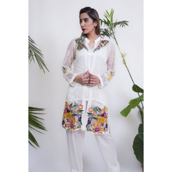 Floral Fantasy Silk 3pcs Dress for Her