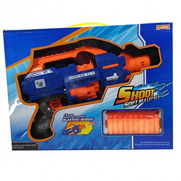 10 DART RAPID FIRE NERF GUN Toy for Kids