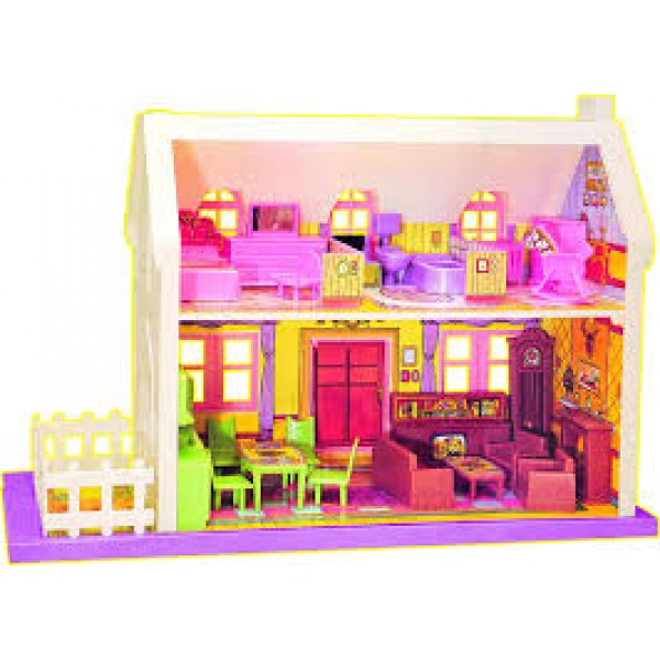BIG DOLL HOUSE  34 PIECES