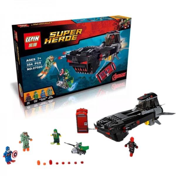 SUPER HERO AVENGERS SUBMARINE LEGO