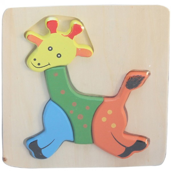 WOODEN PUZZLE THICK - GIRRAFE