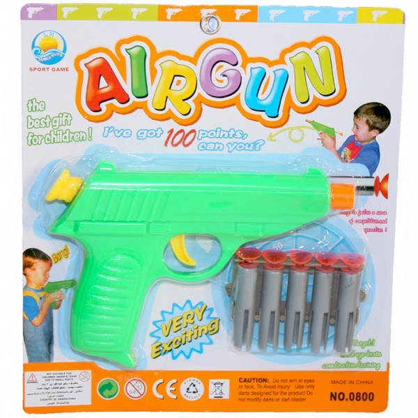 AIRGUN WITH DARTS - toys for kids