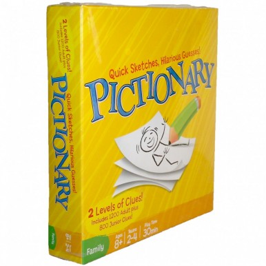 PICTIONARY Family Board Game - 2 Level Clues