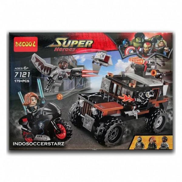 AVENGERS LEGO  BLACK WIDOW & FALCON HAZARD HEIST