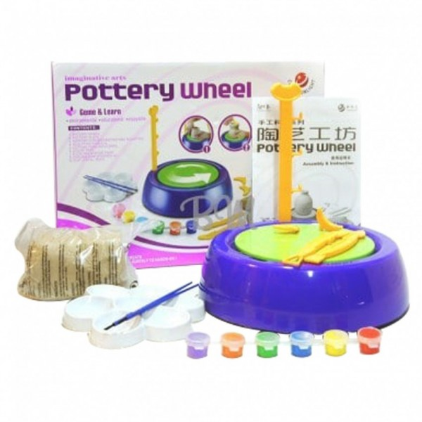 POTTERY MAKING CLAY WHEEL TOY FOR KIDS