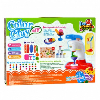 COLOR CLAY - TOY ICE CREAM MAKER FOR KIDS