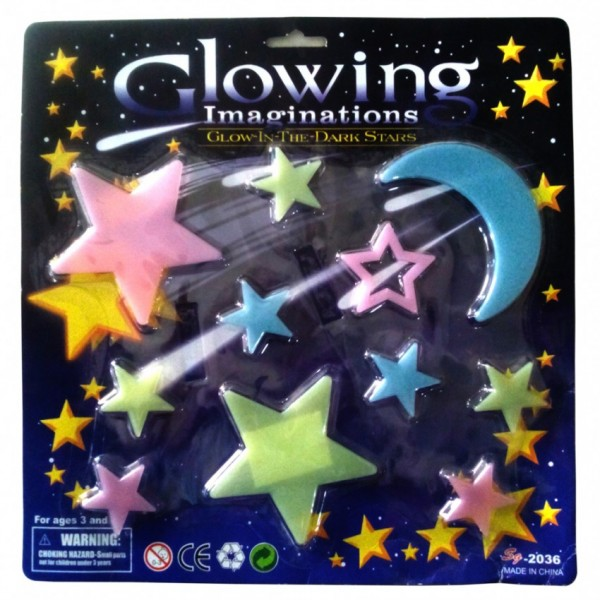 GLOW IN THE DARK STARS -10 pcs