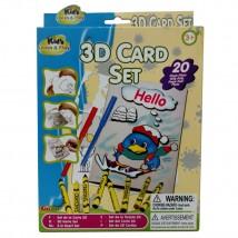 3D ART CARD SET for KIDS