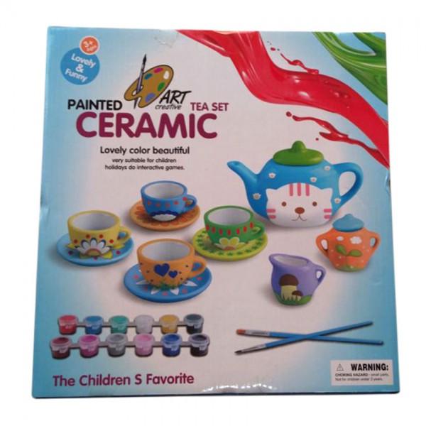 CERAMIC PAINTED TEA SET