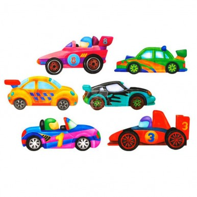 MOULD and PAINT TOY - RACERS