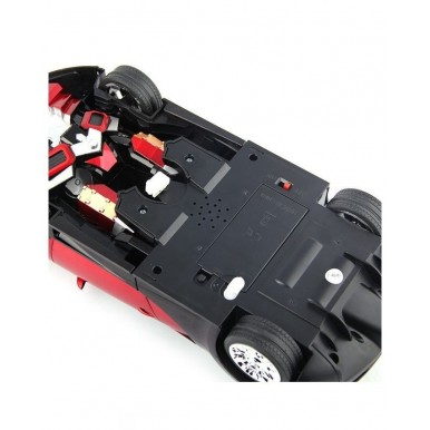 Remote Controlled TRANSFORMER Toy Car - BUGATTI in RED