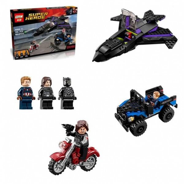 Avengers Black Panther Pursuit Building Blocks - 7122