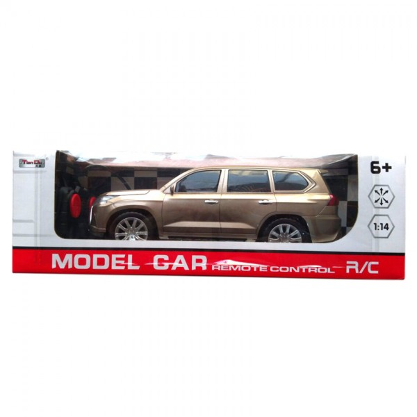 Remote Controlled LEXUS Toy Car - Golden Colour