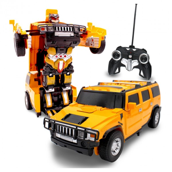 Remote Controlled TRANSFORMER Toy Car - HUMMER in YELLOW