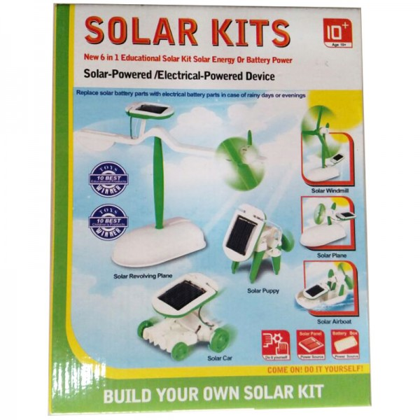 6 IN 1 EDUCATIONAL SOLAR KIT for KIDS YELLOW