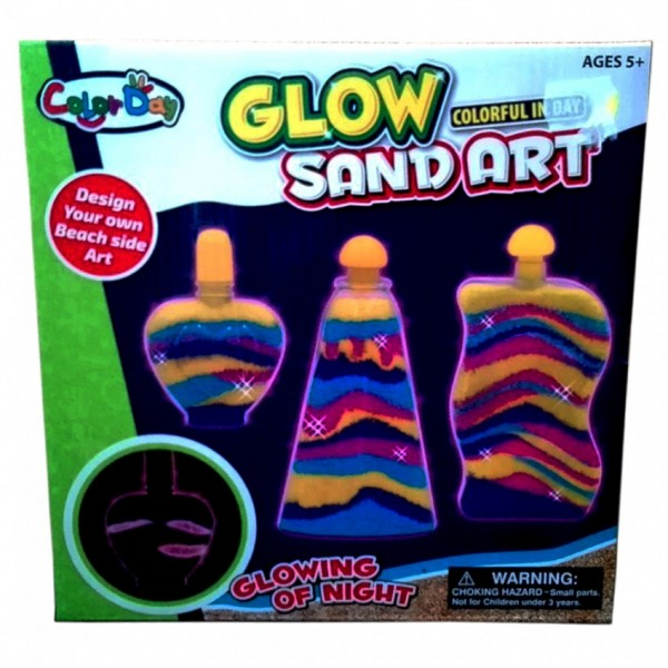 DIY GLOW SAND ART for KIDS play