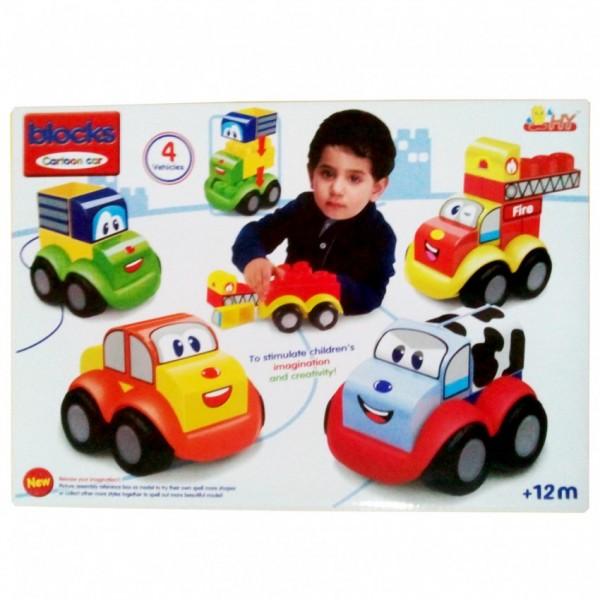 CARTOON CAR BLOCKS SET for KIDS