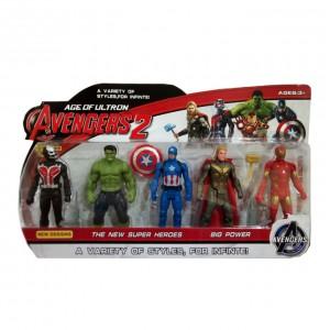 Avengers Assemble - 5 Super Hero Action Figure Set - 5 inches