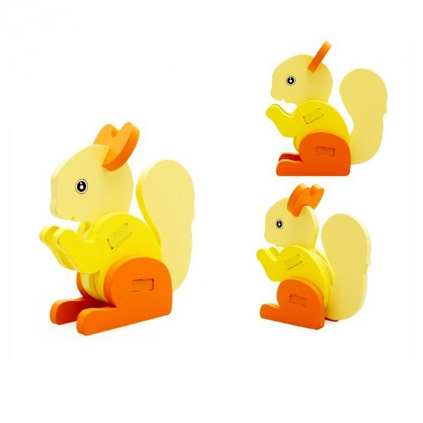 3D Animal Jigsaw Puzzle - Squirrel