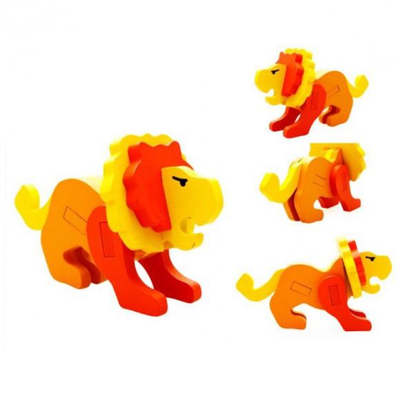 3D Animal Jigsaw Puzzle - Lion