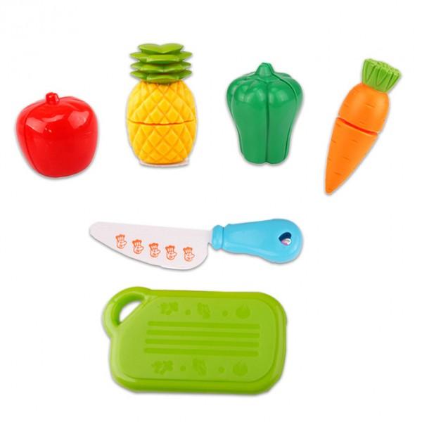 Vegetables and Fruits Cutting Mini Set - 6 Pcs