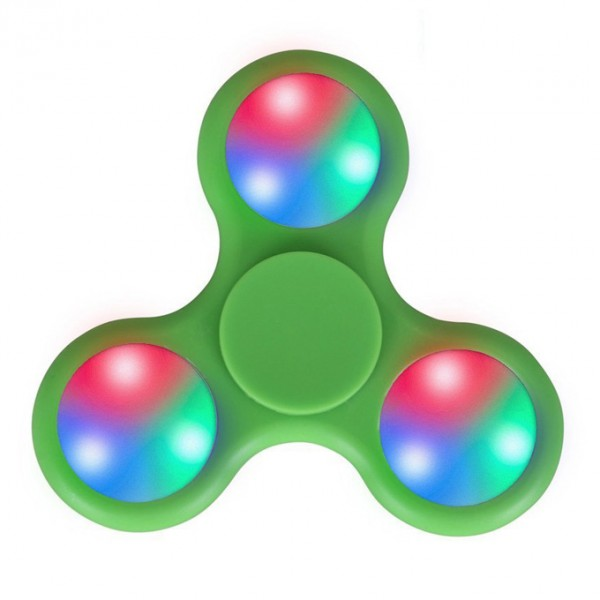 3 Sided Led Light Fidget Spinner - Green