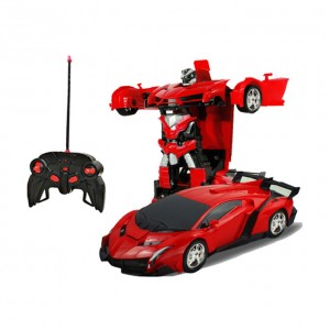 Remote Controlled Lamborghini Transformer Sports Car - Red