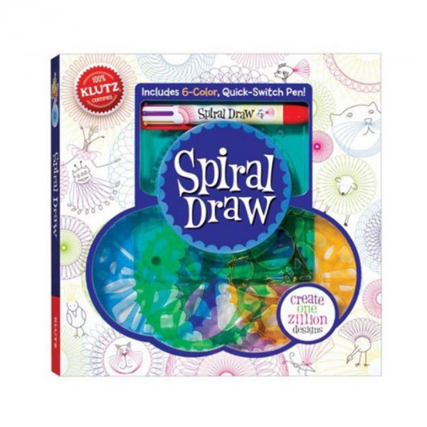 Spiral Draw Stencil with Drawing Book and 6 Color Pen