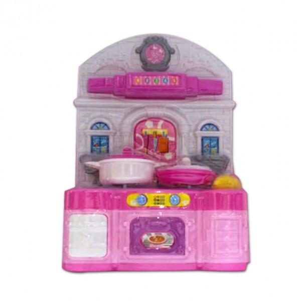 Mini Chef Pink Kitchen Play Set - Battery Operated