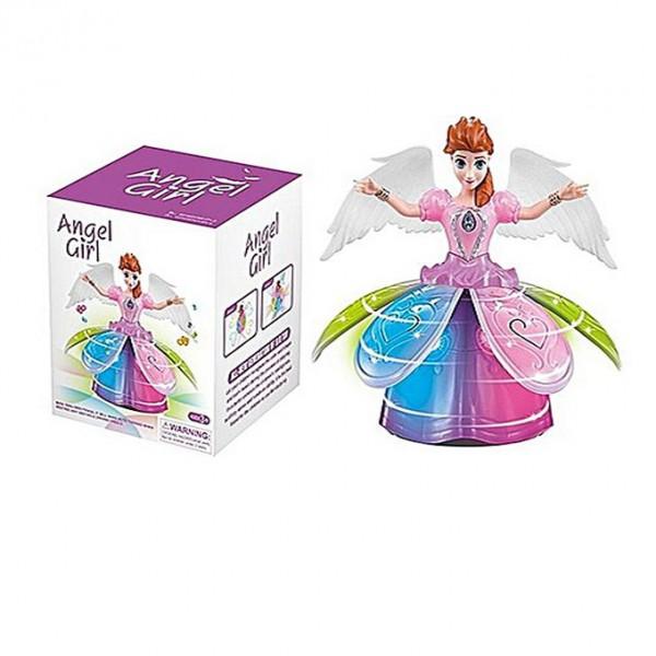 Dancing Angel Girl With Light & Music