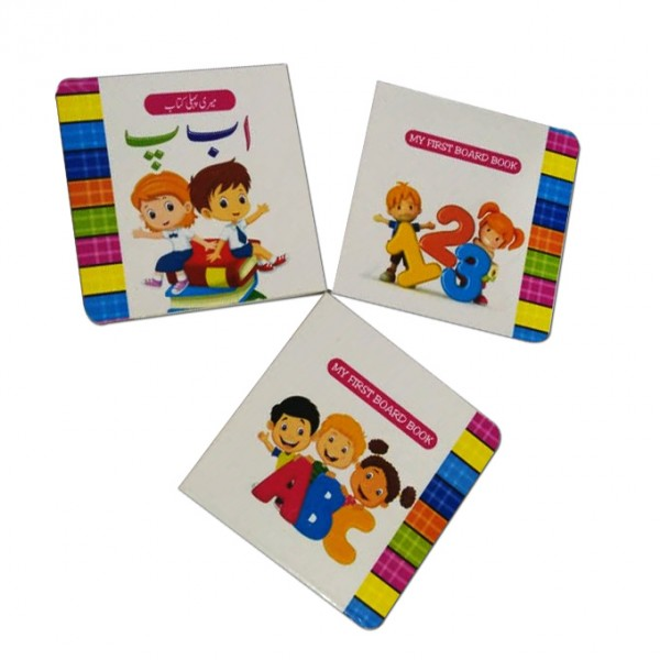 Card Book set ABC, 123 & Urdu Learning 3 in 1