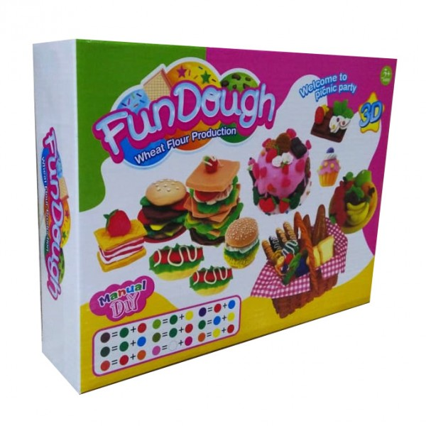 Fun Dough Picnic - Coloforful Playdoh Set with Molds